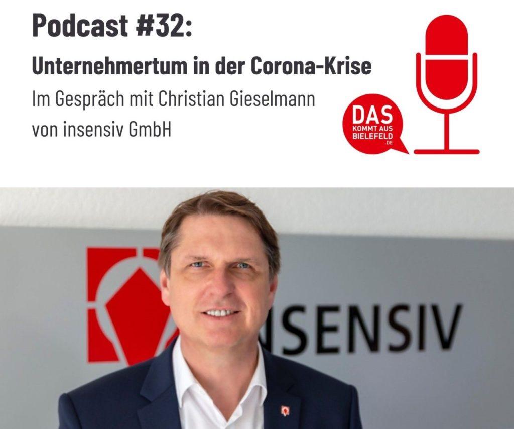 Unternehmertum in der Corona-Krise - Christian Gieselmann im Podcast