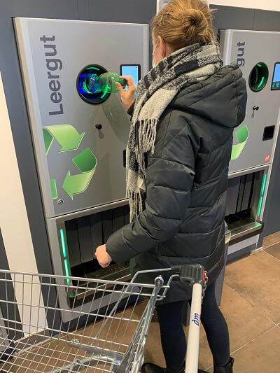 Pfandrückgabe im Einzelhandel