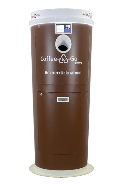 Der innovative Rücknahmeautomat CCVM von insesniv ist speziell für die Rücknahme von Kaffeebechern aller Art entwickelt worden.