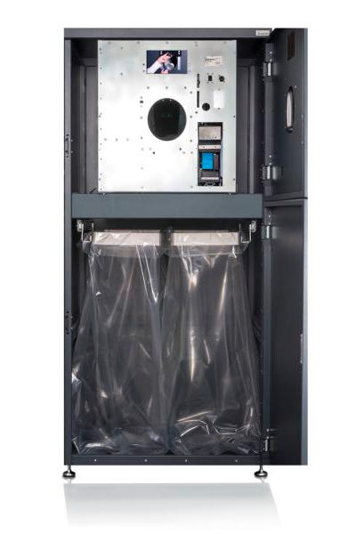 Die Rücknahmeautomaten von insensiv lassen sich optional mit einer Weiche ausstatten, um unterschiedliche Gebindetypen getrennt voneinander zu sammeln.
