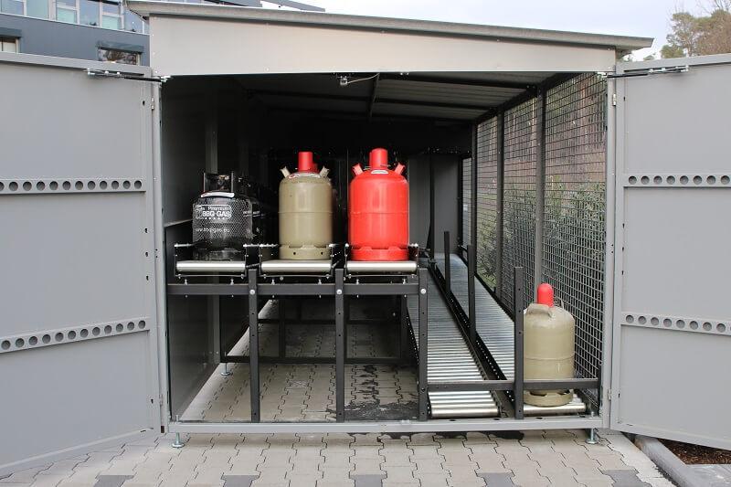 GasflaschenTauschAutomat Lagerbereich 24/7 automatisch Gasflaschen tauschen
