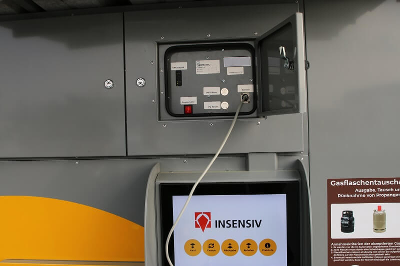 insensiv GasflaschenTauschAutomat Wartung