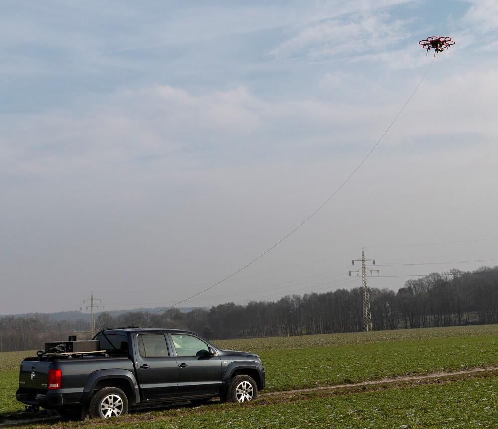 insensiv kabelgebundene Drohne PodCopter
