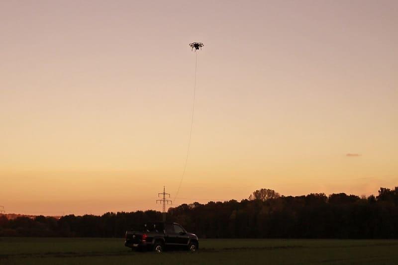 insensiv kabelgebundene Drohnensysteme