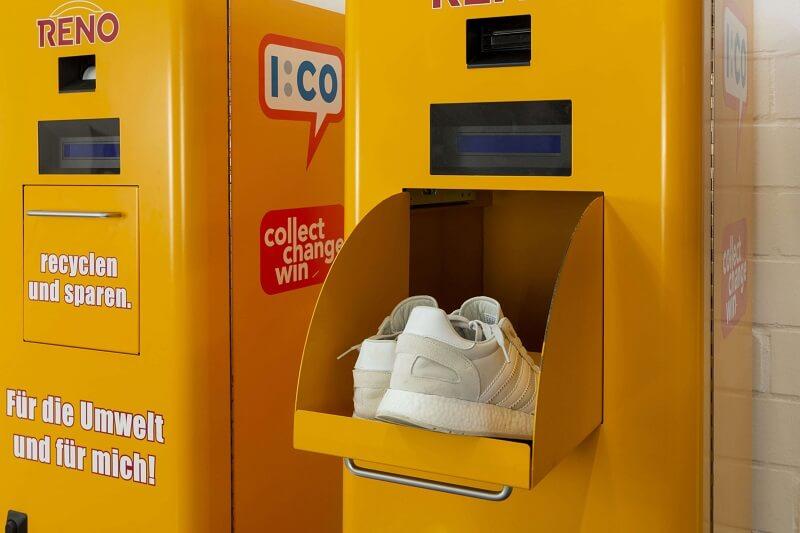 insensiv Recycling von Schuhen - Rücknahmeautomat